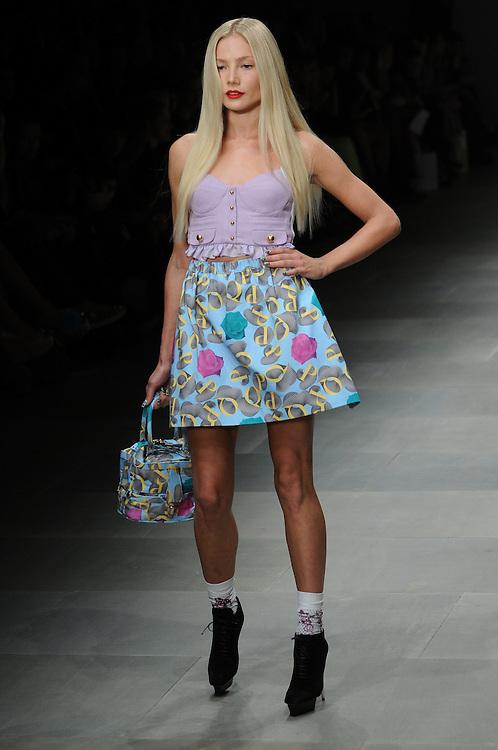 Models walk the runway for PPQ Spring 2012 fashion show during London Fashion Week, London, UK. 16/09/2011 Anne-Marie Michel/CatchlightMedia