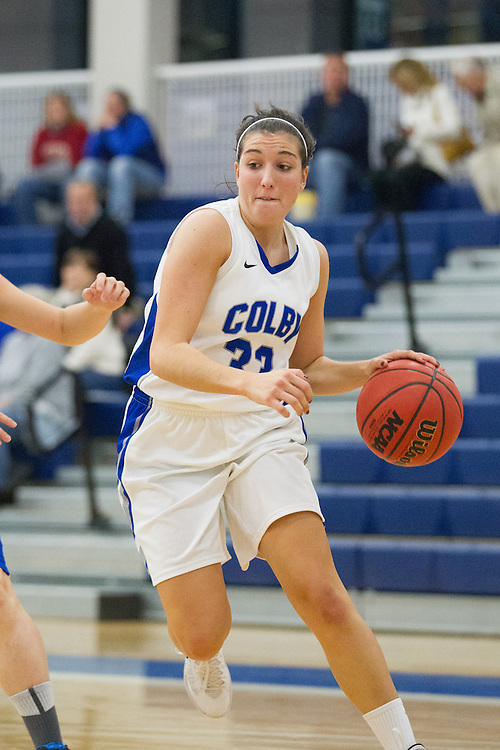 Jen Nale, of Colby College, during an NCAA Division III college basketball game against St. Joseph's at The Whitmore-Mitchell at Wadsworth Gymnasium, Thursday Dec. 5, 2013 in Waterville, ME.  (Dustin Satloff/Colby College Athletics)
