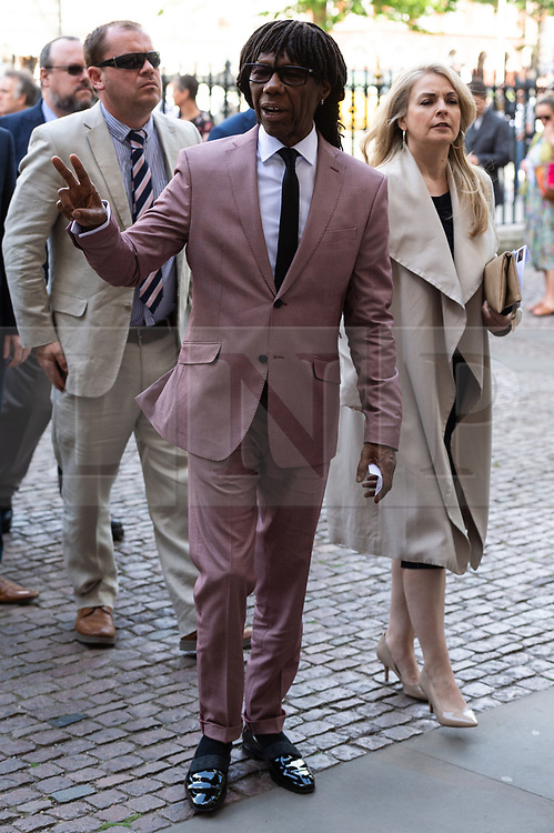 © Licensed to London News Pictures. 15/06/2018. London, UK.  Nile Rogers attends the memorial service for Professor Stephen Hawkin at Westminister Abbey. Photo credit: Ray Tang/LNP