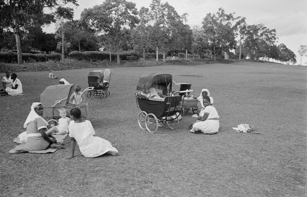 Nursemaids Take Their Charges to The Hill, Kampala, Uganda, Africa, 1937