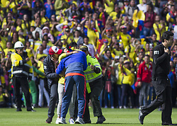 July 5, 2018 - Fans invading the field to greet the player of the Colombian team, Falcao García (Credit Image: © Daniel AndréS GarzóN Herazo via ZUMA Wire)