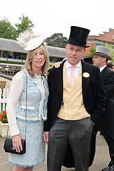 PEREGRINE & CAROLINE ARMSTRONG-JONES at Day 1 of the 2013 Royal Ascot Racing Festival at Ascot Racecourse, Ascot, Berkshire on 18th June 2013.