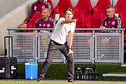 Brentford Head Coach Thomas Frank during the EFL Sky Bet Championship match between Brentford and Huddersfield Town at Brentford Community Stadium, Brentford, England on 19 September 2020.