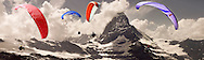 Paragliders over the Matterhorn mountain peak - Swiss Alps - Switzerland .<br /> <br /> Visit our SWITZERLAND  & ALPS PHOTO COLLECTIONS for more  photos  to browse of  download or buy as prints https://funkystock.photoshelter.com/gallery-collection/Pictures-Images-of-Switzerland-Photos-of-Swiss-Alps-Landmark-Sites/C0000DPgRJMSrQ3U