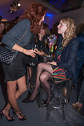 TAMSIN EGERTON; RACHEL MITCHEM, The Vogue Festival 2012 in association with Vertu- cocktail party. Royal Geographical Society. Kensington Gore. London. SW7. 20 April 2012.