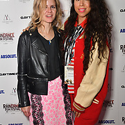 Emel Michael (R) is a singer/songwriter attends Raindance Film Festival Gay Times Gala screening - George Michael: Freedom (The Director's Cut) London, UK. 4th October 2018.