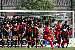 Jeff Stans of Go Ahead Eagles takes a free kick during the Friendly match between Go Ahead Eagles and Excelsior Rotterdam at sportcomplex SV Terwolde on July 20, 2018 in Terwolde, The Netherlands