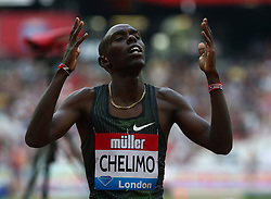 July 21, 2018 - London, United Kingdom - Paul Chelimo of USA winner of the 5000m Men.during the Muller Anniversary Games IAAF Diamond League Day One at The London Stadium on July 21, 2018 in London, England. (Credit Image: © Action Foto Sport/NurPhoto via ZUMA Press)