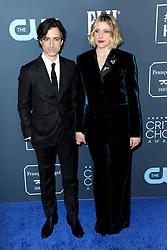 Noah Baumbach and Greta Gerwig at the 25th Annual Critics' Choice Awards held at the Barker Hangar in Santa Monica, USA on January 12, 2020.
