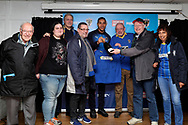 sponsor during the EFL Sky Bet League 1 match between AFC Wimbledon and Burton Albion at the Cherry Red Records Stadium, Kingston, England on 9 February 2019.