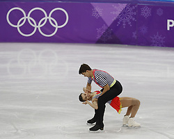 February 15, 2018 - Pyeongchang, KOREA - Anna Duskova and Martin Bidar of the Czech Republic compete in pairs free skating during the Pyeongchang 2018 Olympic Winter Games at Gangneung Ice Arena. (Credit Image: © David McIntyre via ZUMA Wire)
