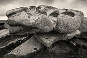 The most incredible aerial erosion of granite over eons, forming huge molars of hard rock on the cliff & hill tops of Cornwall. They look so man made, gigantic Hepworth or Moore sculptures, but are completely naturally formed. the granite tors were 'bubbles' of lava that popped up through weaknesses in the earth's crust, and form many of the Cornish hilltops.