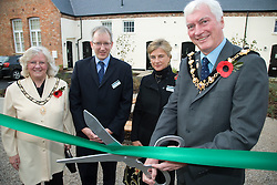 The Guinness Trust opening ceremony of the; once derelict Victorian Parklands Girls School; converted 21 new affordable homes for local people in housing need; central Long Eaton,