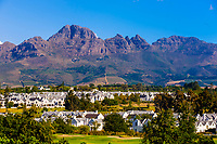 De Zalze Golf Club, Stellenbosch, Cape Winelands, South Africa.