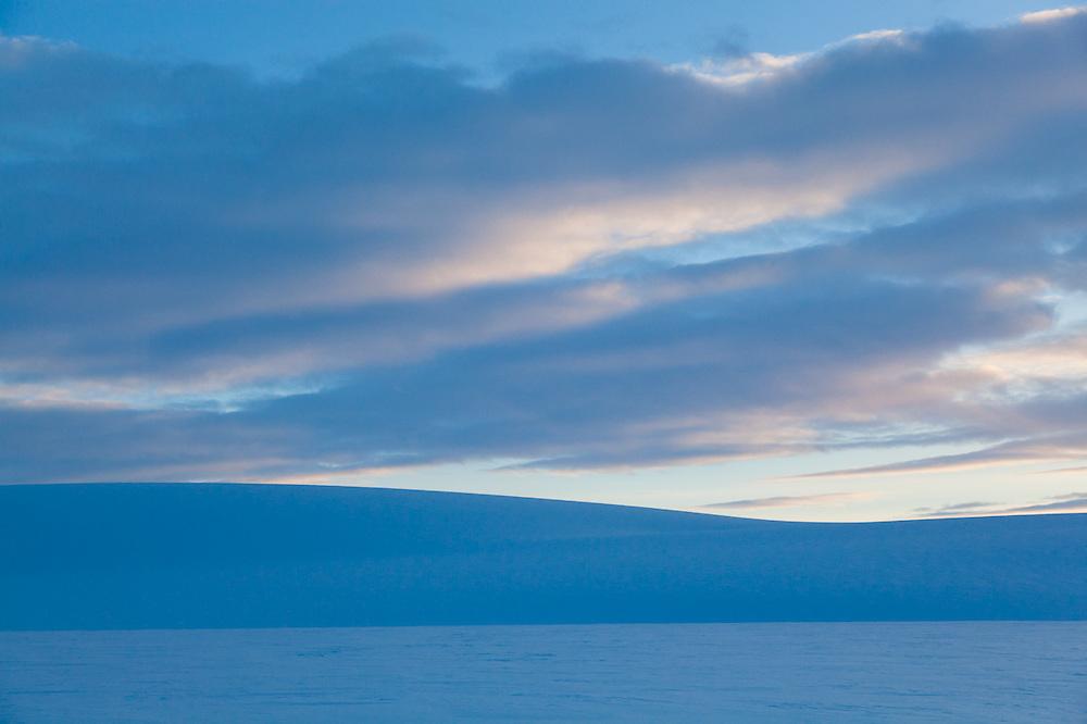 Snowy expanse of Fimbulisen, Svalbard.