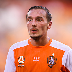 BRISBANE, AUSTRALIA - MARCH 31: Eric Bautheac of the Roar looks on during the Round 25 Hyundai A-League match between Brisbane Roar and Central Coast Mariners on March 31, 2018 in Brisbane, Australia. (Photo by Patrick Kearney / Brisbane Roar FC)