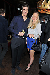 EARL COMPTON and ASTRID HARBORD at the launch of the Johnnie Walker Blue Label Club held at The Scotch, Mason's Yard, London on 1st May 2012.