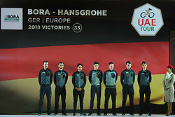 February 23, 2019 - Abu Dhabi, United Arab Emirates - Team Bora - Hansgrohe from Gernmany, during the Team Presentation, at the opening ceremony of the 1st UAE Tour, inside Louvre Abu Dhabi museum..On Saturday, February 23, 2019, Abu Dhabi, United Arab Emirates. (Credit Image: © Artur Widak/NurPhoto via ZUMA Press)