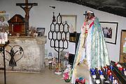 Saintes-Maries-de-la-Mer, Camargue, France the church interior