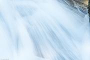 Closeup of water tumbling through Madcap Falls.