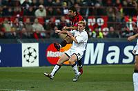 Milan 08-03-2005<br />Champions League 2004-2005<br />Milan Manchester United<br />nella  foto Rui Costa Scholes<br />Foto Snapshot / Graffiti