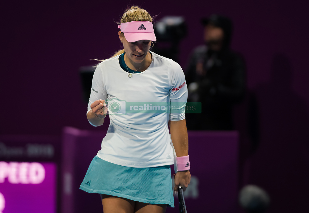 February 13, 2019 - Doha, QATAR - Angelique Kerber of Germany in action during her second-round match at the 2019 Qatar Total Open WTA Premier tennis tournament (Credit Image: © AFP7 via ZUMA Wire)