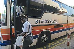 Passenger Boarding Stagecoach