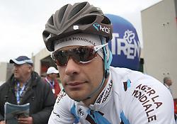19/04/2012, Pergine Valsugana, Italy. Gregor GAZVODA (SLO) at the start of the TOUR DU TRENTIN - GIRO DEL TRENTINO 2012 - STAGE 3 .© Pierre Teyssot / Sportida.com