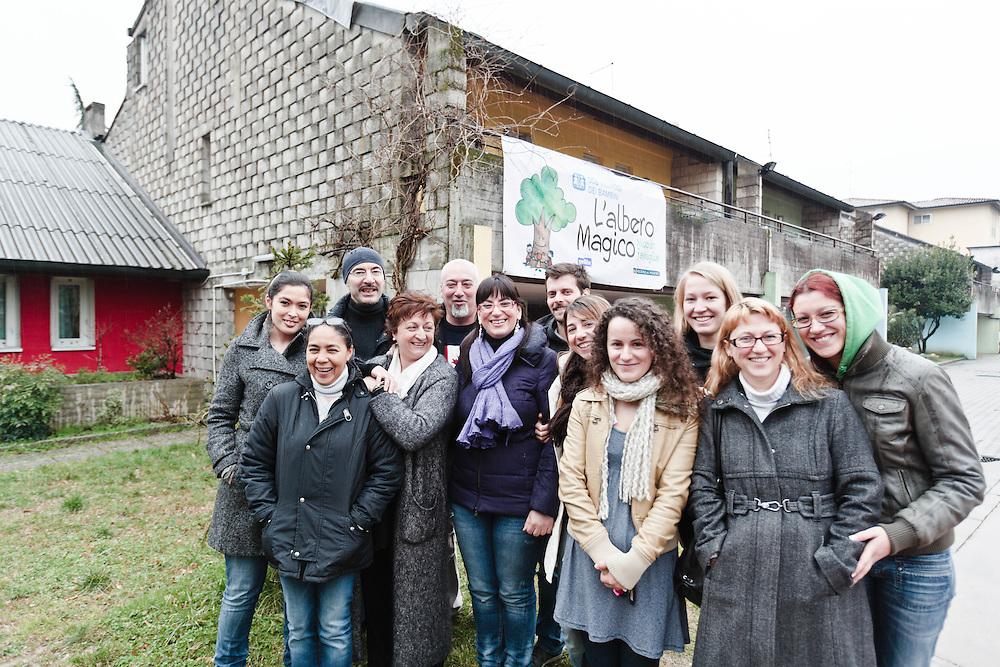 03 MAR 2011 - Vicenza - SOS Villaggio dei bambini - Gruppo degli operatori, al centro la direttrice Piera Moro