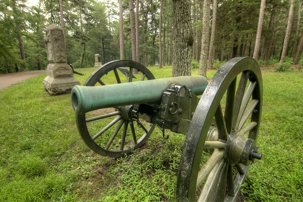 One of many canons on display along the motor trail at Chickamauga & Chattanooga National Military Park in Fort Oglethorpe, GA on Thursday, July 23, 2015. Copyright 2015 Jason Barnette