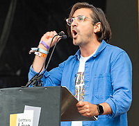 Ferinand Kingsley letters live at the  Wilderness Festival Cornbury Park Oxfordshire,photo by Mark Anton Smith