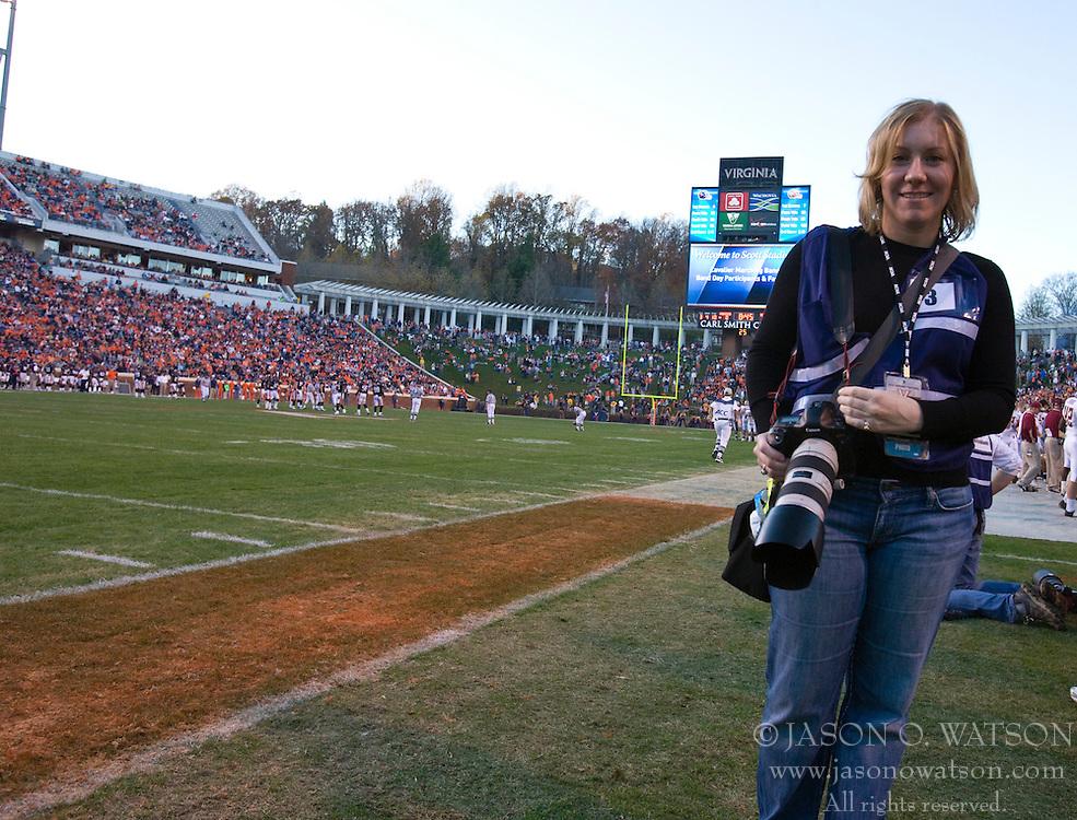 November 14, 2009; Charlottesville, VA, USA;  during the fourth quarter at Scott Stadium.  Boston College defeated Virginia 14-10.  Mandatory Credit: Jason O. Watson-US PRESSWIRE