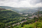 Landscape of Pentre village in the Rhondda Valley, South Wales, UK.
