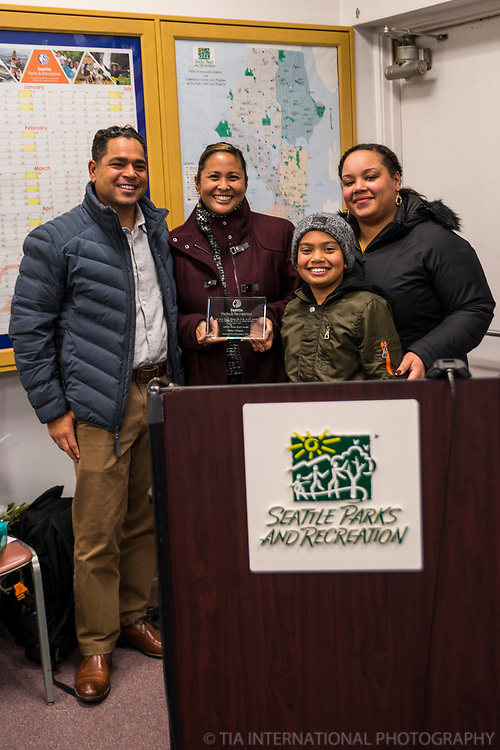 Award Presentation @ Seattle Parks & Recreation Board Meeting
