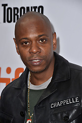 Dave Chappelle attends the A Star Is Born screening held at the Roy Thomson Hall during the Toronto International Film Festival in Toronto, Canada on September 9th, 2018. Photo by Lionel Hahn/ABACAPRESS.com
