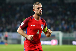 Jordan Henderson of England runs over to take a corner - Mandatory by-line: Robbie Stephenson/JMP - 11/10/2016 - FOOTBALL - RSC Stozice - Ljubljana, England - Slovenia v England - World Cup European Qualifier