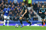 Nacer Chadli of West Bromwich Albion in action. Premier league match, Everton v West Bromwich Albion at Goodison Park in Liverpool, Merseyside on Saturday 11th March 2017.<br /> pic by Chris Stading, Andrew Orchard sports photography.
