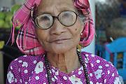 Myanmar, portrait of a mature indigenous woman
