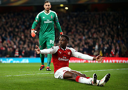Danny Welbeck of Arsenal appeals for a penalty - Mandatory by-line: Robbie Stephenson/JMP - 15/03/2018 - FOOTBALL - Emirates Stadium - London, England - Arsenal v AC Milan - UEFA Europa League Round of 16, Second leg