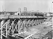 """9904-B03A. """"Albina Shipyard site. Electrical station. September 15, 1950"""" (no story in Oregonian newspaper)"""