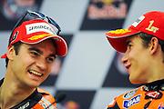 April 19-21, 2013- Dani Pedrosa (SPA), Repsol Honda Team laughs with teammate Marc Marquez (SPA), Repsol Honda Team