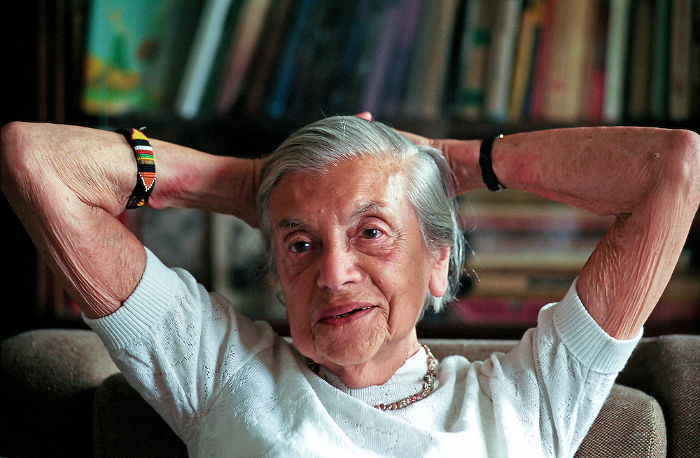 """Lenka Reinerova, pictured in 2004 as the oldest living German-language writer in Prague, in her apartment located in Prague Smichov. She came to know some of the extraordinary literary figures of Prague at the time, including Franz Kafka's friend, Max Brod, and the famous """"roving reporter"""" Egon Erwin Kisch. Lenka Reinerova died June 27, 2008 in Prague at the age of 92.  Lenka Reinerova, pictured in 2004 as the oldest living German-language writer in Prague, in her apartment located in Prague Smichov. She came to know some of the extraordinary literary figures of Prague at the time, including Franz Kafka's friend, Max Brod, and the famous """"roving reporter"""" Egon Erwin Kisch. Lenka Reinerova died June 27, 2008 in Prague at the age of 92."""