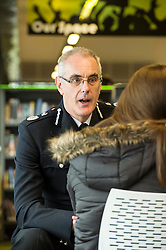Pictured: <br /> Police Scotland Chief Constable Phil Gormley unveiled details of the 'Your View Counts' exercise, which will help shape policing priorities throughout the country in Edinburgh today. <br /> Ger Harley   EEm 7 April 2016
