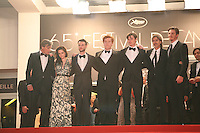 The director and cast on the res steps  at the On The Road gala screening red carpet at the 65th Cannes Film Festival France. The film is based on the book of the same name by beat writer Jack Kerouak and directed by Walter Salles. Wednesday 23rd May 2012 in Cannes Film Festival, France.