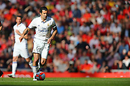 Luis Figo of Real Madrid legends team in action. Liverpool Legends  v Real Madrid Legends, Charity match for the LFC Foundation at the Anfield stadium in Liverpool, Merseyside on Saturday 25th March 2017.<br /> pic by Chris Stading, Andrew Orchard sports photography.