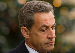 File photo - File photo - Former French President and UMP party leader Nicolas Sarkozy leaves the Elysee Palace after his meeting with President Francois Hollande to discuss yesterday's deadly shooting at satirical magazine Charlie Hebdo, at the Elysee Palace in Paris, France on January 8, 2015. A French judge has ordered ex-President Nicolas Sarkozy to stand trial in an illegal campaign finance case. Mr Sarkozy faces accusations that his party falsified accounts in order to hide 18m euros of campaign spending in 2012. Mr Sarkozy denies he was aware of the overspending, and will appeal against the order to stand trial. Former French President Nicolas Sarkozy was in police custody on Tuesday morning March 20, 2018, an official in the country's judiciary said. He was to be questioned as part of an investigation into suspected irregularities over his election campaign financing, the same source added. The probe related to alleged Libyan funding for Sarkozy's 2007 campaign, Le Monde newspaper reported. Photo by Thierry Orban/ABACAPRESS.COM