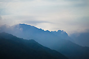 Japan Yakushima Island - mountains under a morning light