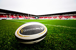 A general view of Parc y Scarlets with the Guinness Pro 14 ball  - Mandatory by-line: Dougie Allward/JMP - 02/11/2019 - RUGBY - Parc y Scarlets - Llanelli, Wales - Scarlets v Toyota Cheetahs - Guinness PRO14