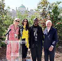 Victoria Broackes ,Es Devlin ,Ini Archibong and Sir John Sorrell  ,London Design Biennale 2021 - Somerset House, London photo by Roger alarcon