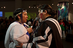 Throat singers perform at Canada's Northern House